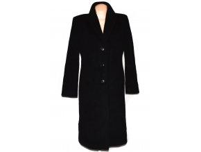 Vlněný dámský černý dlouhý kabát Christian Berg