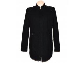 Vlněný dámský černý zateplený kabát na zip ORSAY 42