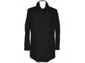 Vlněný pánský šedočerný zateplený kabát Sunset suits