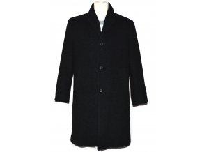 Vlněný pánský šedočerný zateplený kabát Kaiser (vlna, kašmír) 48