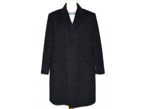 Vlněný pánský šedý zateplený kabát Schild L