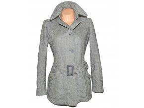 Vlněný dámský šedý kabát s páskem Kookai M
