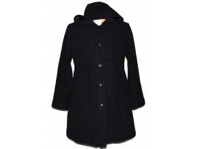 Těhotenský dámský černý kabát s kapucí Motherhood M