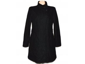 Vlněný dámský černý kabát na zip NEXT L