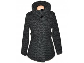 Dámský šedočerný kabát Just Play L