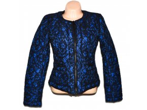 Dámská modrá krajková bunda na zip Morgan L