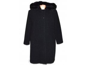 Vlněný dámský kabát s kapucí (vlna, kašmír) XXXXL / UK 24