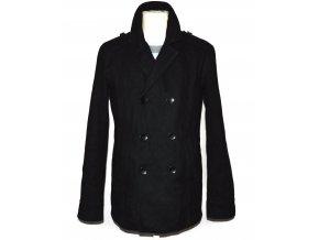 Pánský černý zateplený kabát Jules S/M