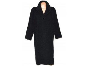 Vlněný (80%) dámský šedočerný dlouhý kabát Tatiana (vlna, kašmír)
