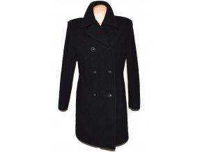Vlněný (100%) dámský černý kabát Profashion L