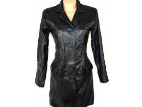 KOŽENÝ dámský měkký černý kabát M, L