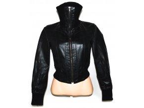 KOŽENÁ dámská černá bunda NEW LOOK UK 8,10,12,14