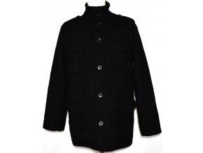 Vlněný pánský černý kabát TOPMAN vel. M