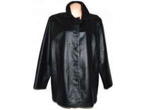 KOŽENÝ dámský černý kabát BERKERTEX XL, XXL, XXXL
