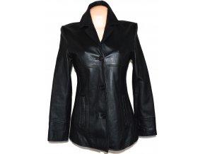 KOŽENÝ dámský černý měkký kabát K.K.M vel. L