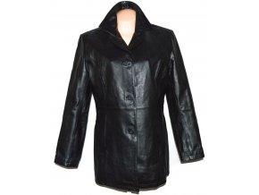 KOŽENÝ dámský měkký černý kabát SENZA MAX XL, XXL