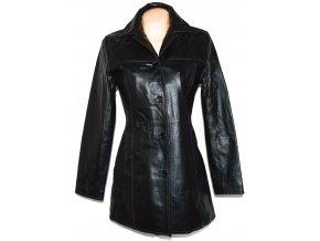 KOŽENÝ dámský černý kabát CALYPSO 38, 48