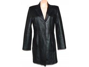 KOŽENÝ dámský černý kabát CERO L