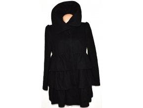 Vlněný dámský černý kabát DOROTHY PERKINS 38,42