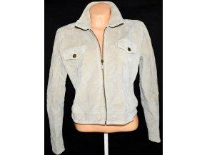 KOŽENÁ dámská béžová bunda na zip SOON UK 16/ XL