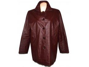 KOŽENÝ dámský vínový kabát MILAN LEATHER