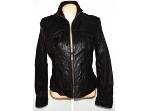 KOŽENÁ dámská hnědá bunda na zip CALYPSO 40