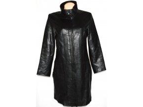 KOŽENÝ dámský měkký černý kabát MILAN LEATHER M, L