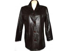 KOŽENÝ dámský měkký hnědý kabát AMARANTO XL