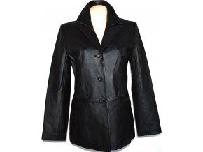 KOŽENÝ dámský měkký černý kabát