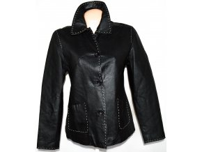 KOŽENÁ dámská černá měkká bunda s prošíváním
