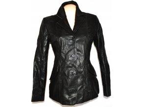 KOŽENÝ dámský černý kabát GAPELLE vel. L
