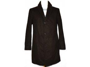 Vlněný pánský hnědý kabát Marks&Spencer M