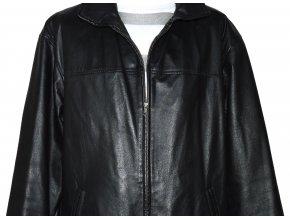KOŽENÁ pánská černá bunda na zip CERO L