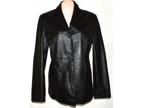 KOŽENÝ dámský černý kabát DIFFERENT 44