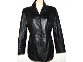 KOŽENÝ dámský černý měkký kabát SENZA MAX L, XL