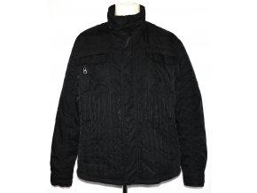 Pánská černá šusťáková bunda na zip GEORGE XL