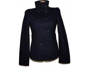 Vlněný dámský modrý kabát Kenvelo