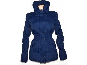 Péřový dámský modrý kabát na zip VERO MODA XS