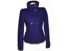 Vlněný dámský fialový kabát VERO MODA M
