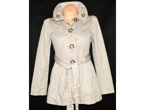 Bavlněný dámský béžový kabát s páskem NEXT S, M/L