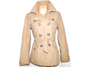 Bavlněný dámský béžový kabát s páskem CAMAIEU M/L