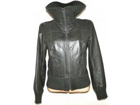 KOŽENÁ dámská šedá bunda Y.O.U. vel. L