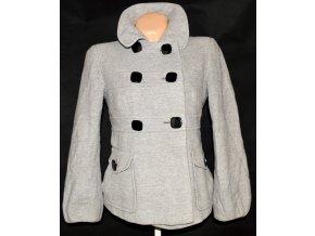 Vlněný dámský šedý kabát Marks&Spencer M