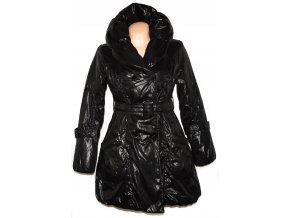 Dámský černý šusťákový kabát s páskem  M.Elysee M