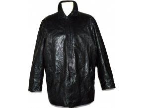 KOŽENÁ pánská černá bunda na zip VALI XL