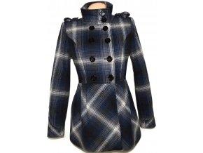 Vlněný dámský modrý kabát ORSAY
