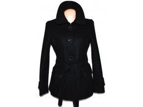 Vlněný (80%) dámský černý kabátek TOPSHOP (vlna e85583347a