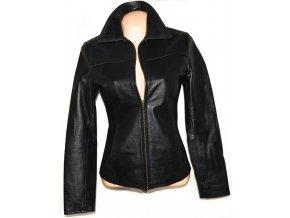 KOŽENÁ dámská černá bunda na zip Calypso S