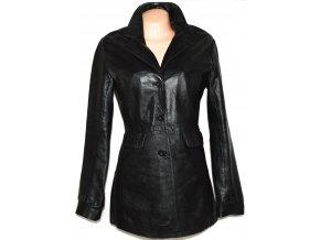 KOŽENÝ dámský měkký černý kabát BAY L