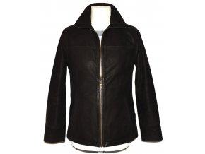 KOŽENÁ pánská hnědá měkká bunda na zip Senza Max XS